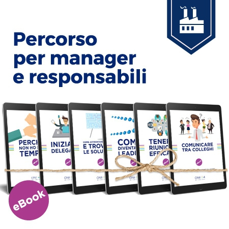 Percorso per manager e responsabili gli ebook di ONE4