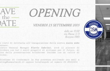 Inaugurazione nuovi uffici: venerdì 25 settembre ore 17.00